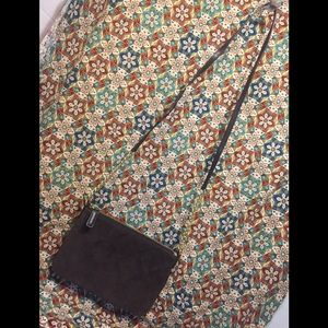 Talbot's Suede Genuine Leather Chain Crossbody Bag